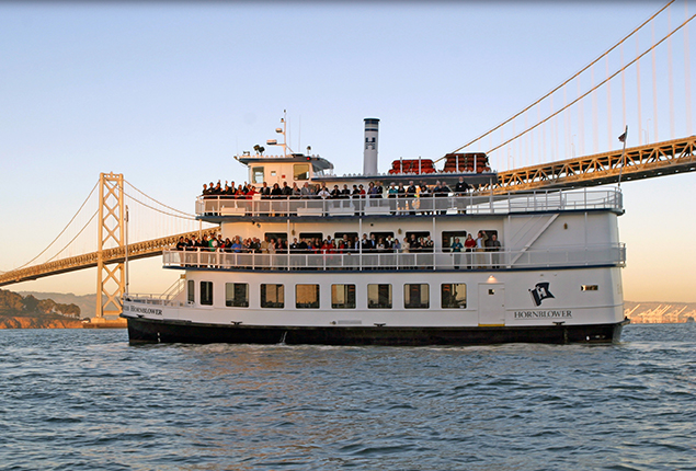 Hornblower Empress under the Golden Gate Bridge